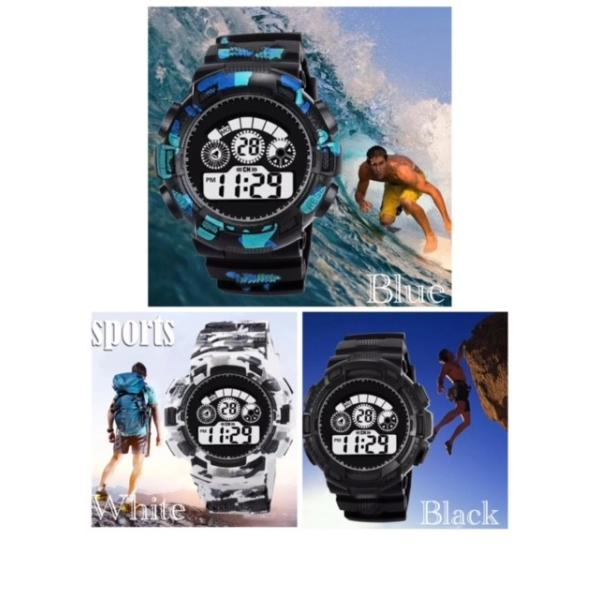 スポーツ腕時計 LEDライト デジタル 腕時計 ミリタリー 耐久性 スポーツ ランニング アウトドア 男女兼用 メンズ レディース カモフラージュ|t-a