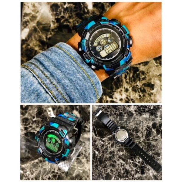 スポーツ腕時計 LEDライト デジタル 腕時計 ミリタリー 耐久性 スポーツ ランニング アウトドア 男女兼用 メンズ レディース カモフラージュ|t-a|02