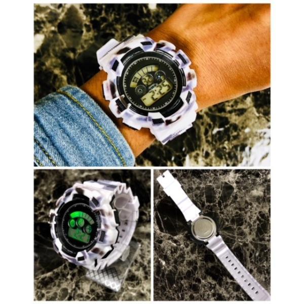 スポーツ腕時計 LEDライト デジタル 腕時計 ミリタリー 耐久性 スポーツ ランニング アウトドア 男女兼用 メンズ レディース カモフラージュ|t-a|03