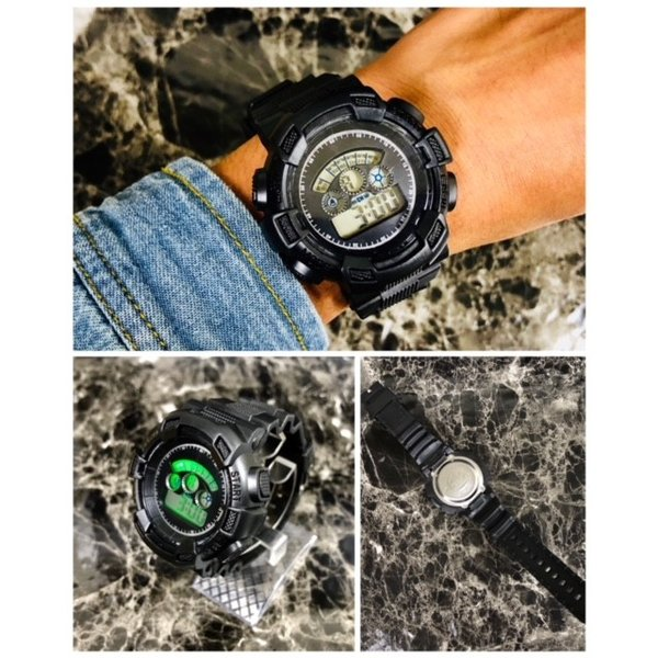 スポーツ腕時計 LEDライト デジタル 腕時計 ミリタリー 耐久性 スポーツ ランニング アウトドア 男女兼用 メンズ レディース カモフラージュ|t-a|04