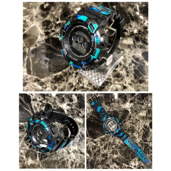 スポーツ腕時計 LEDライト デジタル 腕時計 ミリタリー 耐久性 スポーツ ランニング アウトドア 男女兼用 メンズ レディース カモフラージュ|t-a|05