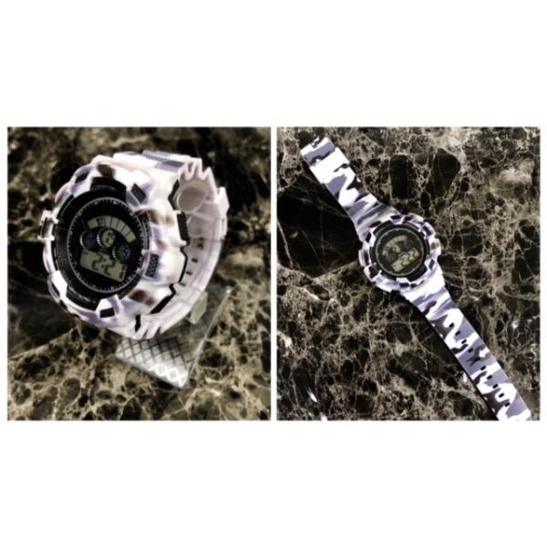 スポーツ腕時計 LEDライト デジタル 腕時計 ミリタリー 耐久性 スポーツ ランニング アウトドア 男女兼用 メンズ レディース カモフラージュ|t-a|06