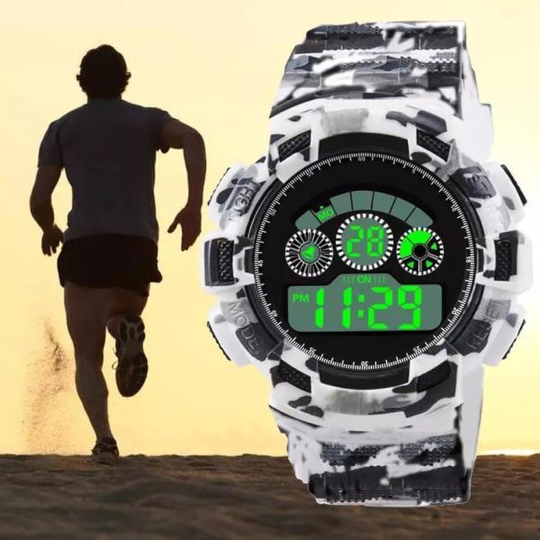 スポーツ腕時計 LEDライト デジタル 腕時計 ミリタリー 耐久性 スポーツ ランニング アウトドア 男女兼用 メンズ レディース カモフラージュ|t-a|08