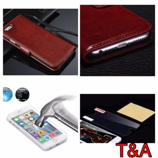 iPhone6 iPhone 6S iPhone 手帳型レザーケース+強化保護フィルム 茶色 2 収納 オシャレ スマホカバー 携帯ケース  ブラウン|t-a|03