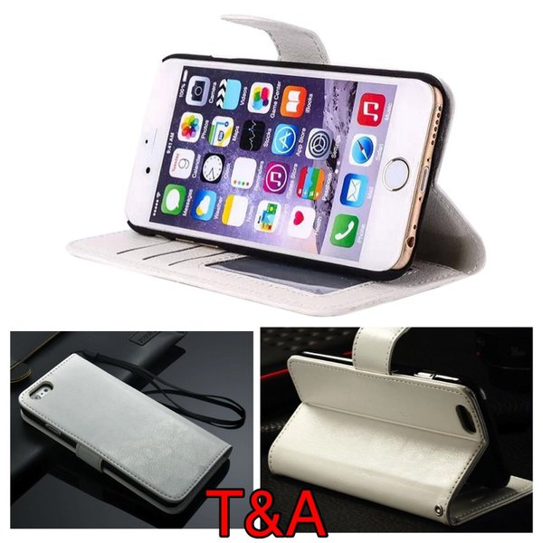 iPhone6 iPhone 6S iPhone  手帳型4.7レザーケース+強化保護フィルム付き 白 収納 2 オシャレ スマホカバー 携帯ケース  ホワイト|t-a|02