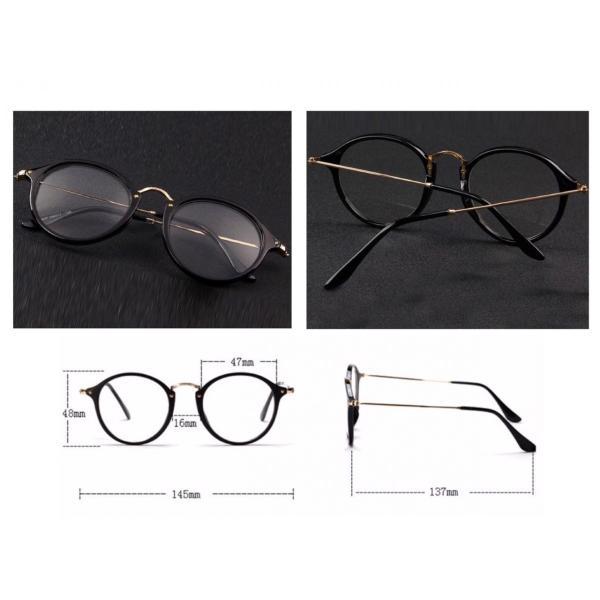 ボストン メガネ ブルーライトカット 伊達眼鏡 丸型 オシャレサングラス  PCメガネ UVカット ファッション眼鏡|t-a|05