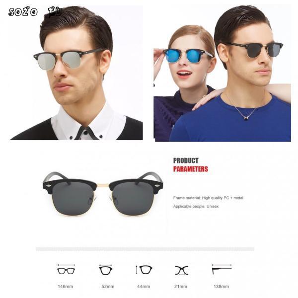 サングラス サーモント ミラー スモーク ブルーレンズ 伊達メガネ  UV400 紫外線カット 男女兼用 メンズ レディース 4Color|t-a|11