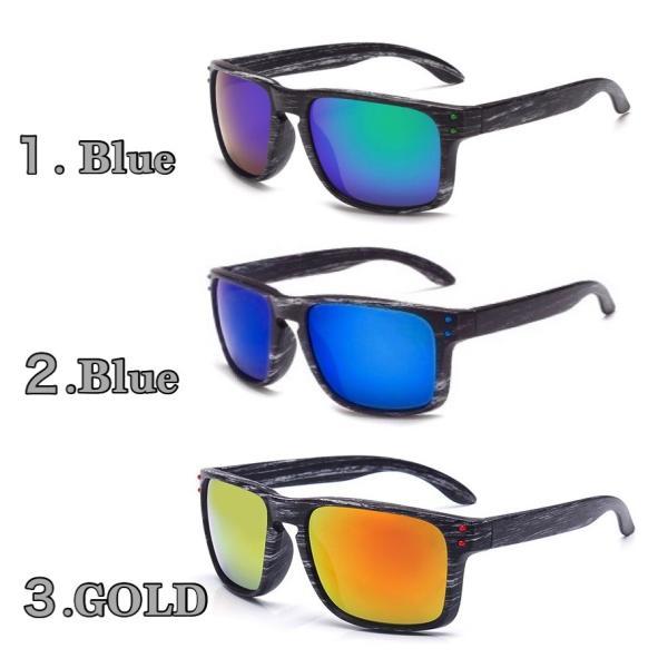 人気 ウェリントン型 ミラーサングラス ミラーレンズ オシャレフレーム  UV400 紫外線カット ブルー ゴールド 日焼け対策 メンズ レディース 3Color|t-a