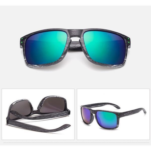 人気 ウェリントン型 ミラーサングラス ミラーレンズ オシャレフレーム  UV400 紫外線カット ブルー ゴールド 日焼け対策 メンズ レディース 3Color|t-a|02