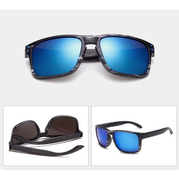 人気 ウェリントン型 ミラーサングラス ミラーレンズ オシャレフレーム  UV400 紫外線カット ブルー ゴールド 日焼け対策 メンズ レディース 3Color|t-a|03