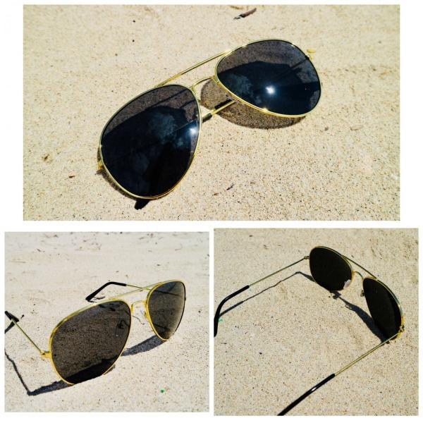 ティアドロップ サングラス スモーク ゴールドフレーム ミラーレンズ ティアドロップ  UV400 紫外線カット 海 メンズ レディース 金 ブラック|t-a|02