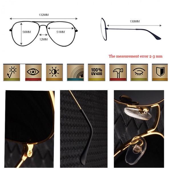 ティアドロップ サングラス スモーク ゴールドフレーム ミラーレンズ ティアドロップ  UV400 紫外線カット 海 メンズ レディース 金 ブラック|t-a|04