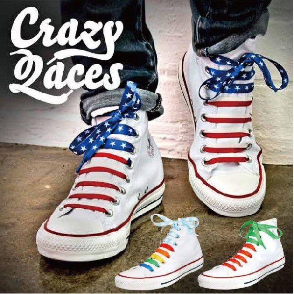 クレイジーレース ■ 靴紐 紐 ひも シューレース スニーカー アメリカン雑貨 メール便可 t-bravo