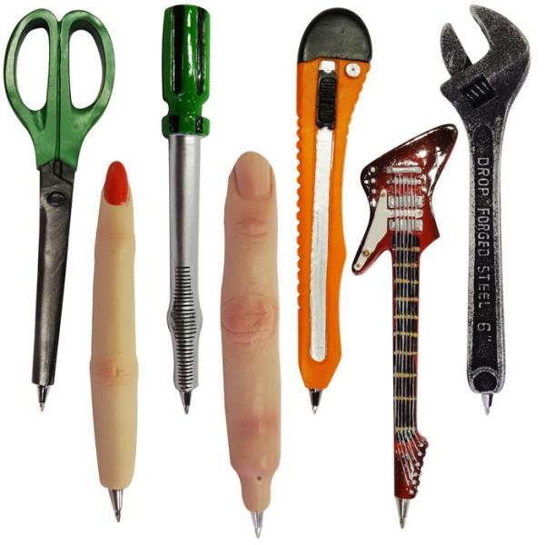 ファニーボールペン ■ おもしろ文房具 面白 ハサミ 指 カッター ギター アメリカン雑貨|t-bravo