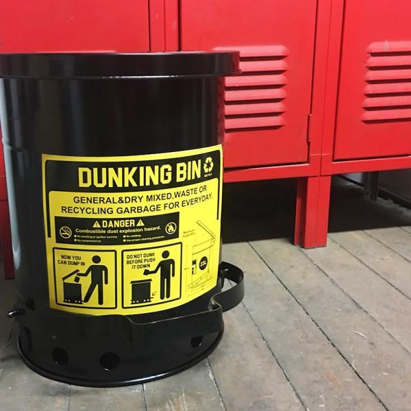 ゴミ箱ダンキングビン (23L) ■ ふた付き ごみ箱 23リットル ダストビン トラッシュカン アメリカン雑貨|t-bravo|07