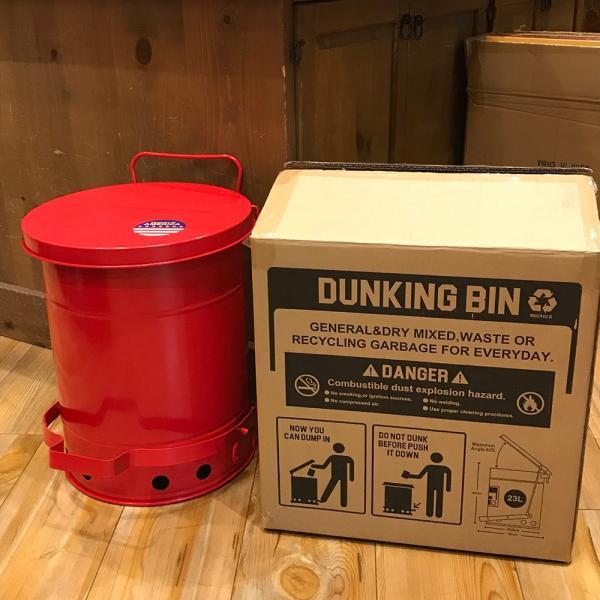 ゴミ箱ダンキングビン (23L) ■ ふた付き ごみ箱 23リットル ダストビン トラッシュカン アメリカン雑貨|t-bravo|09