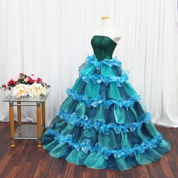 e8e3b6c5b458b ... カラードレス ロングドレス ピンク 花 ウエディング 演奏会人気 ピアノ 即納 結婚式 二次会 花嫁 ...