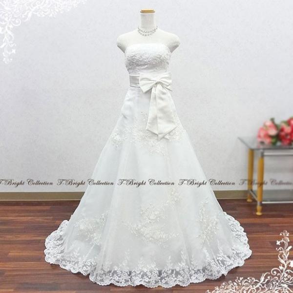 b06b375283d12 ... ネックレスプレゼント ウェディングドレス ウエディングドレス白 二次会 花嫁 格安 Aライン 刺繍 クラシカル オフホワイト ...