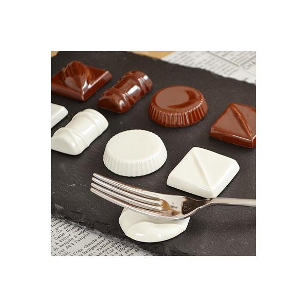 チョコレート箸置き LOLO ブラウン ショコラ 洋食器 カフェ食器 箸置き カトラリーレスト 可愛い ギフト セット テーブルアクセサリー かわいい