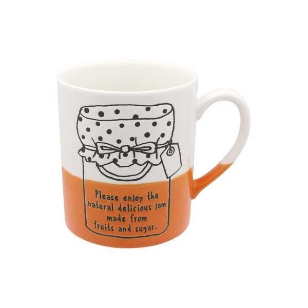 マグカップ ジャム ママレードコーヒーカップ マグ カップ コップ イラスト 半磁器 電子レンジ対応 カフェ食器 おうちCafe おしゃれ かわいい