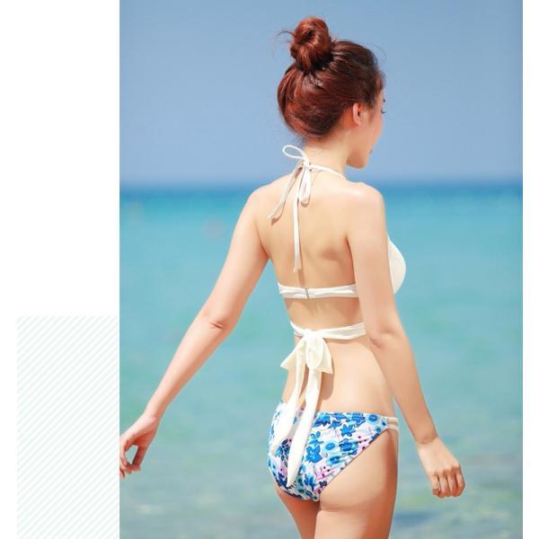 水着 ビキニ クロスビキニ バンドゥ フロント クロス 2点 大人 カシュクール ホルターネック ワイヤービキニ 女の子 水着|t-gshop|15