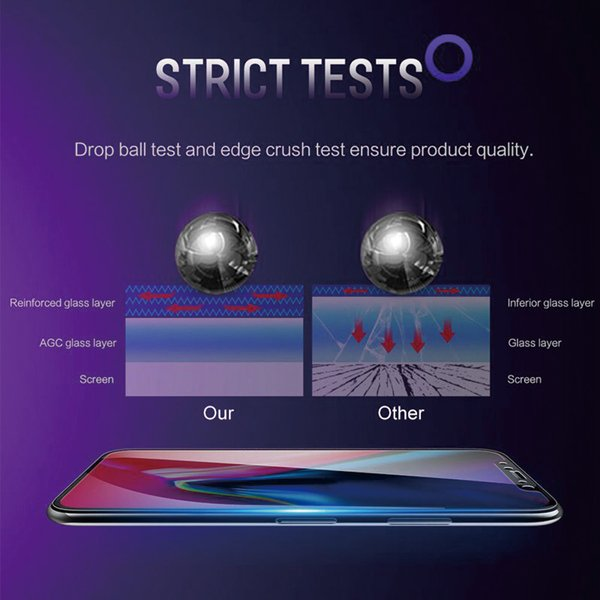 ガラスフィルム ブルーライトカット iPhone 11 Pro XR Xs MAX 全面 フィルム ガラス アイフォン 強化ガラス|t-gshop|04