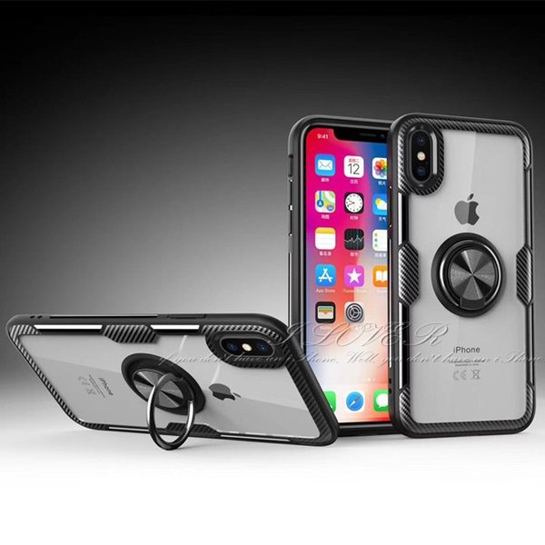 iPhone XR ケース リング付き iPhone X Xs MAX iPhone8 iPhone7 アイフォンケース iPhoneケース スマホケース クリア カーボン柄|t-gshop|12