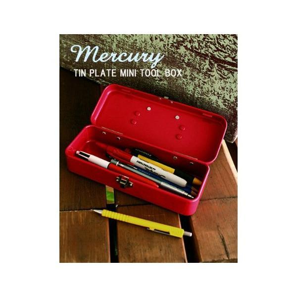 マーキュリー ブリキミニツールボックス レッド MERCURY  MINI TOOLBOX RED|t-home|02