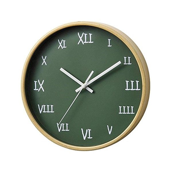 【アウトレット】パセオ掛け時計 グリーン PACEO WALL CLOCK GREEN|t-home