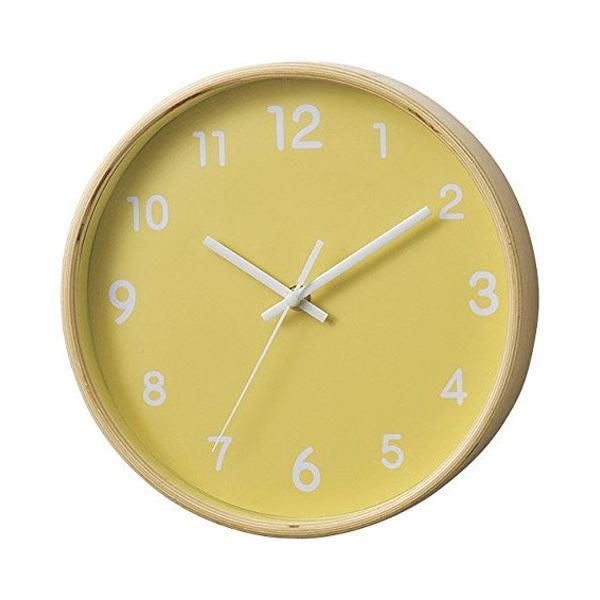 【アウトレット】パセオ掛け時計 イエロー PACEO WALL CLOCK YELLOW|t-home