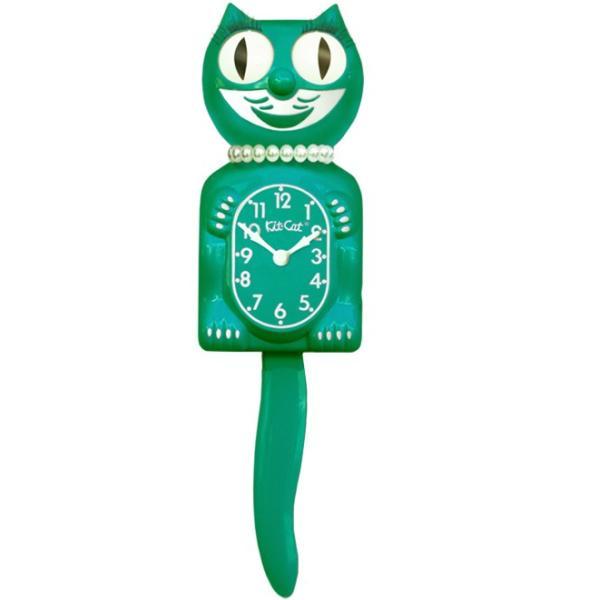 キットキャットクロック リミテッドエディション エメラルドグリーンレディ  Kit Cat Clock Limited Edition Classic Emerald Green Lady|t-home