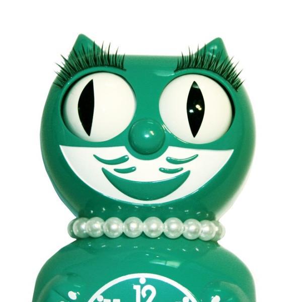 キットキャットクロック リミテッドエディション エメラルドグリーンレディ  Kit Cat Clock Limited Edition Classic Emerald Green Lady|t-home|02