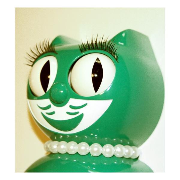 キットキャットクロック リミテッドエディション エメラルドグリーンレディ  Kit Cat Clock Limited Edition Classic Emerald Green Lady t-home 03