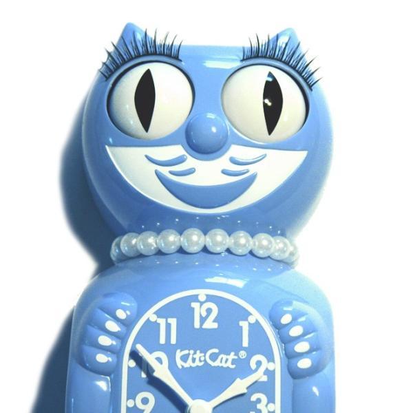 キットキャットクロック リミテッドエディション セレニティブルーレディ  Kit Cat Clock Limited Edition Serenity Blue Lady|t-home|02
