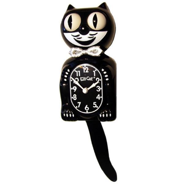キットキャットクロック リミテッドエディション ブラック プラズマスティックボウタイ Kit Cat Clock  Limited Edition Black Plasma tick bowtie|t-home