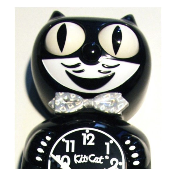 キットキャットクロック リミテッドエディション ブラック プラズマスティックボウタイ Kit Cat Clock  Limited Edition Black Plasma tick bowtie|t-home|02