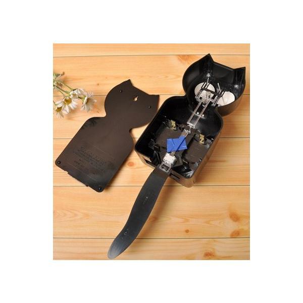 キットキャットクロック リミテッドエディション ブラック プラズマスティックボウタイ Kit Cat Clock  Limited Edition Black Plasma tick bowtie|t-home|03