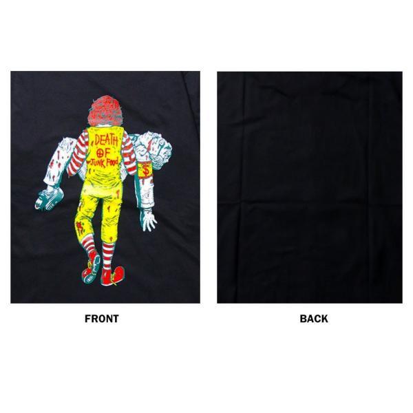 おもしろtシャツ パロディtシャツ メンズ 面白いTシャツ 笑えるTシャツ  DEATH OF JUNK FOOD S,M,Lサイズ 黒色 グレー 白色 青色|t-link|02