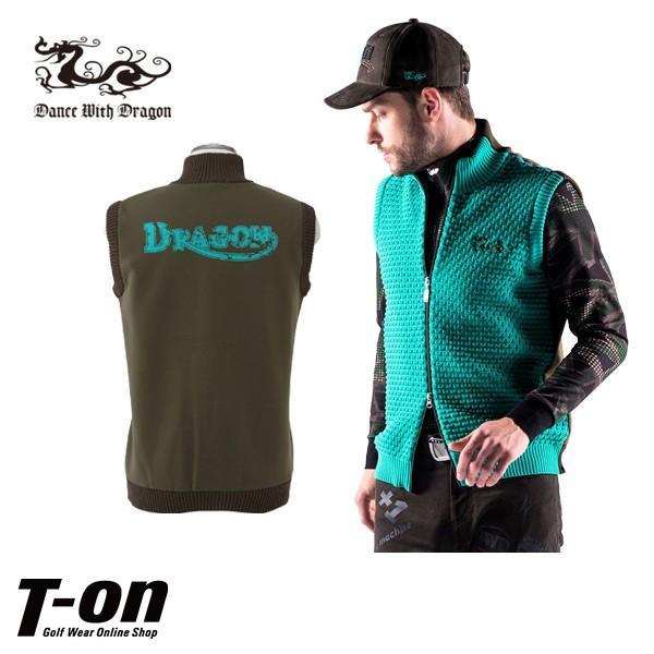 ベスト メンズ ダンスウィズドラゴン ダンス ウィズ ドラゴン DANCE WITH DRAGON DWD  ゴルフウェア|t-on