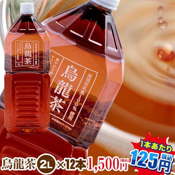 烏龍茶2L×12本 1本当り100円|九州・中国エリアは 福建省産茶葉100%使用お茶|ペットボトル|ウーロン茶