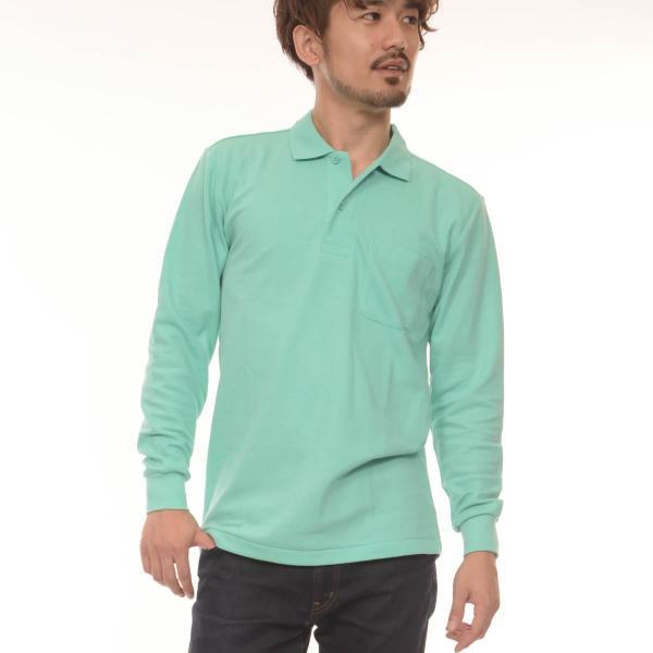 ポロシャツ メンズ 長袖  無地 Printstar(プリントスター) 5.8オンス T/C 長袖 ポロシャツ (ポケ付) 169vlp|t-shirtst|06
