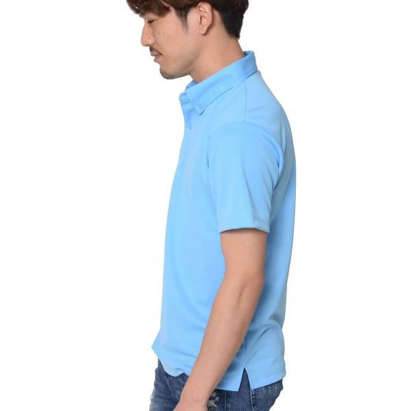 ポロシャツ メンズ ドライ クールビズ 半袖 無地 4.4オンス ドライボタンダウンポロシャツ(ポケット無し)ビズポロ 吸汗 速乾 Glimmer(グリマー) 313abn|t-shirtst|07