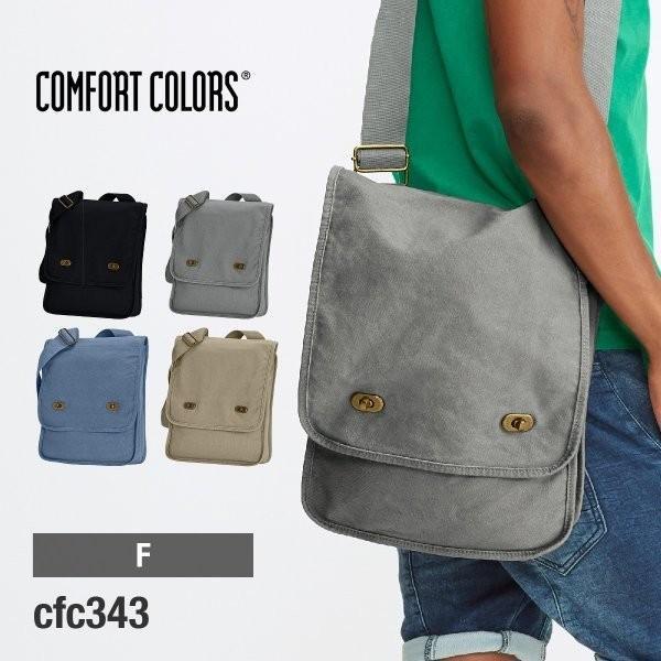 バッグ 無地 14オンス キャンバス フィールドバッグ 顔料染め 斜めがけバッグ Comfort Colors(コンフォートカラーズ) cfc343|t-shirtst