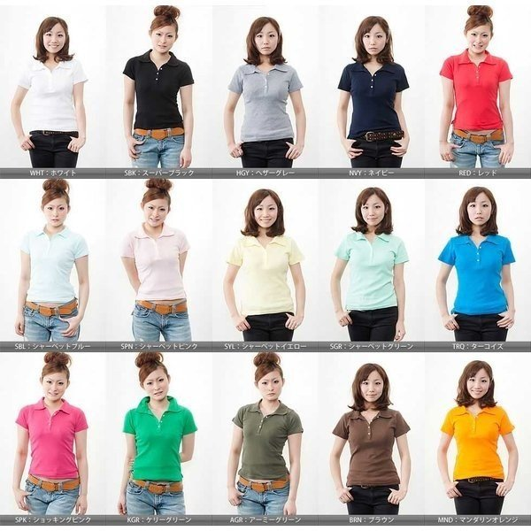 レディース 無地 ポロシャツ demimoon(デミムーン) DE4301 t-shirtst 02
