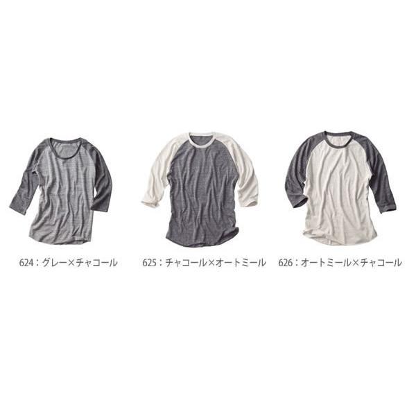 ラグラン 7分袖 Tシャツ メンズ  無地 DALUC(ダルク) 4.3oz Authentic Tri-blend 3/4 T-shirts dm103|t-shirtst|02