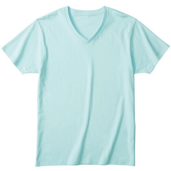 メンズ Vネック 無地Tシャツ 肌着 インナー スリム タイト DALUC(ダルク)DM502|t-shirtst|03