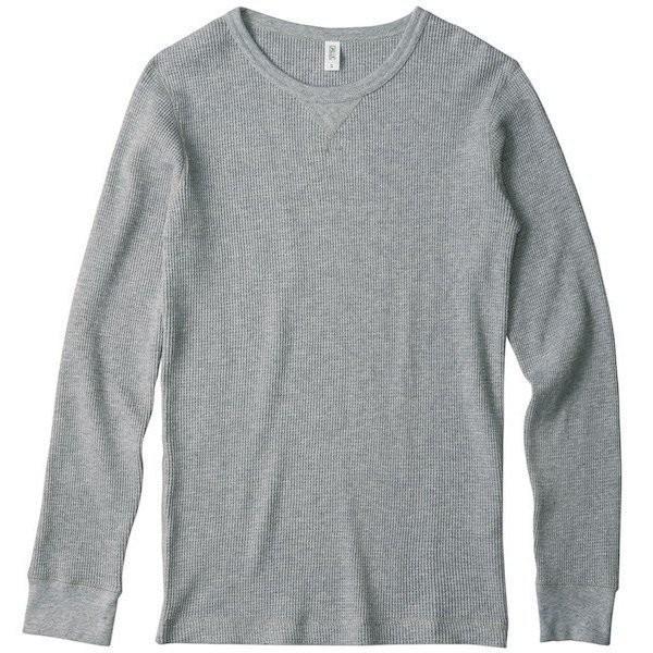 長袖Tシャツ メンズ ロンT ロンティー 無地 DALUC(ダルク) 9.1oz Heavy Waffle Lomg Sleeve dm511|t-shirtst|03