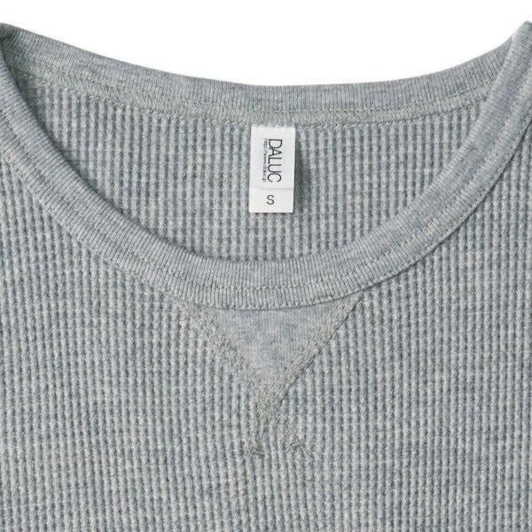 長袖Tシャツ メンズ ロンT ロンティー 無地 DALUC(ダルク) 9.1oz Heavy Waffle Lomg Sleeve dm511|t-shirtst|04
