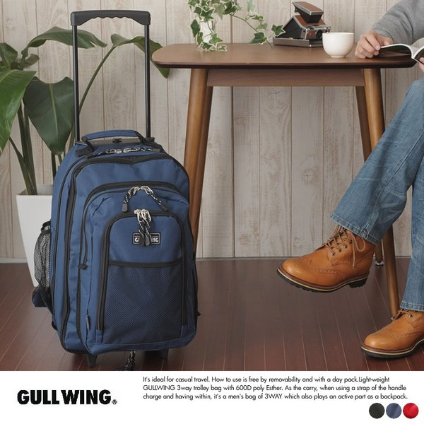 3wayキャリーバッグ 27〜36L 機内持ち込み 小型 リュック GULLWING|t-style