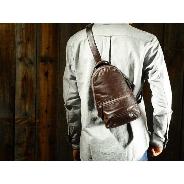 青木鞄 ソフト牛革ボディバッグ via メンズ 本革 la GALLERIA No.2053|t-style|05